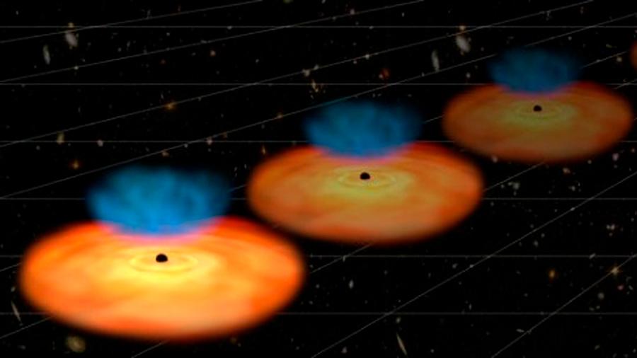 Galaxias activas apuntan a una nueva física de la expansión cósmica