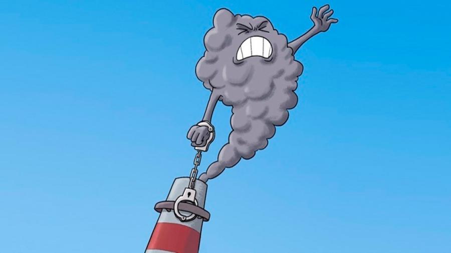 Capturan el CO2 de centrales de energía igual que los equipos de buceo