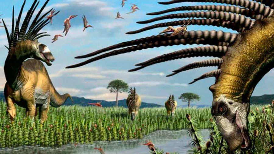 Un nuevo dinosaurio espinoso muestra sus increíbles armas de defensa
