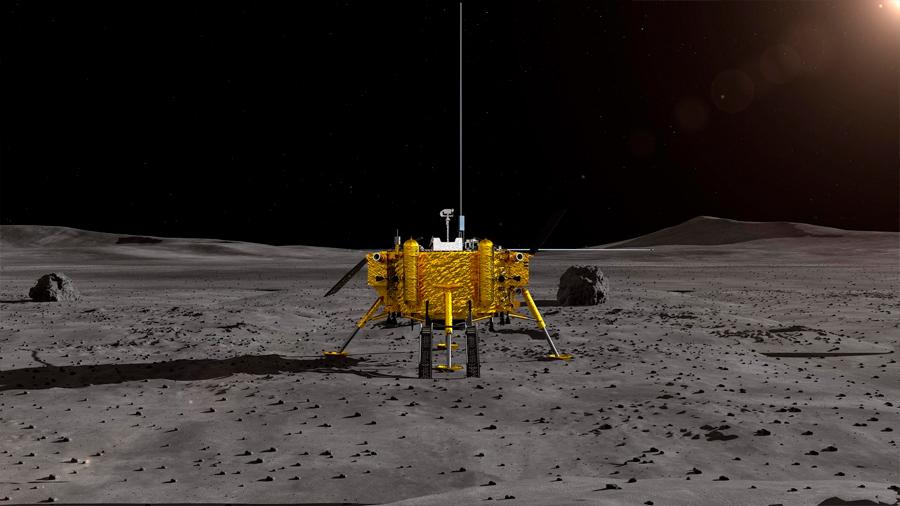Reanuda su trabajo la sonda china en la cara oculta de la Luna