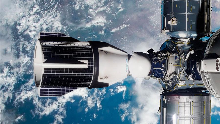 La cápsula Crew de Dragon de SpaceX se acopla con éxito a la Estación Espacial Internacional