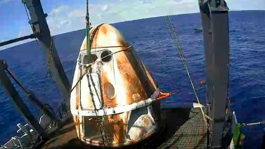 Space X culmina con éxito el retorno de su cápsula tripulable
