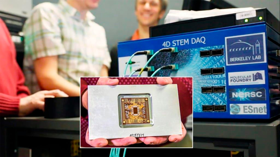 Detector ultrarrápido en microscopio electrónico capta imágenes a escala atómica