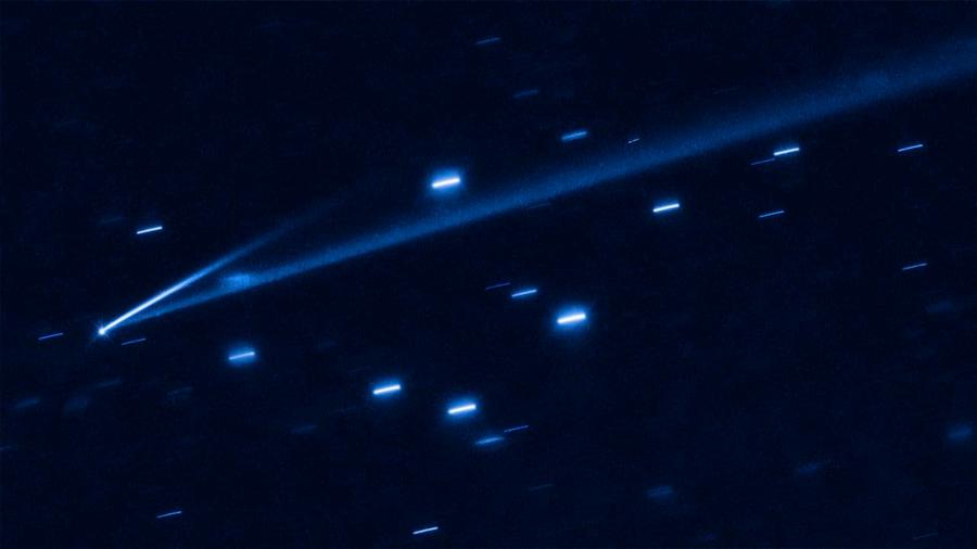 Un asteroide rompiéndose en pedazos, a la vista del telescopio Hubble