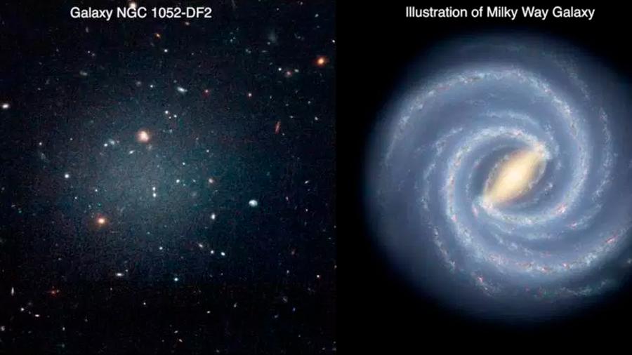Descubren galaxia que desafía la teoría de la materia oscura: con poco o nada de ella
