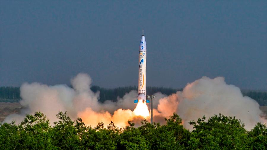 Falla el primer intento de misión orbital del cohete privado chino OS-M1