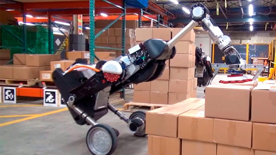 Handle, el 'atemorizante' robot de Boston Dynamics, ahora es un experto apilador de cajas