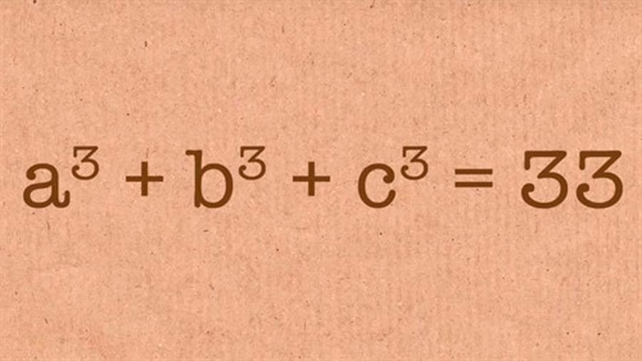 Solución al problema de expresar el número 33 como la suma de 3 cubos