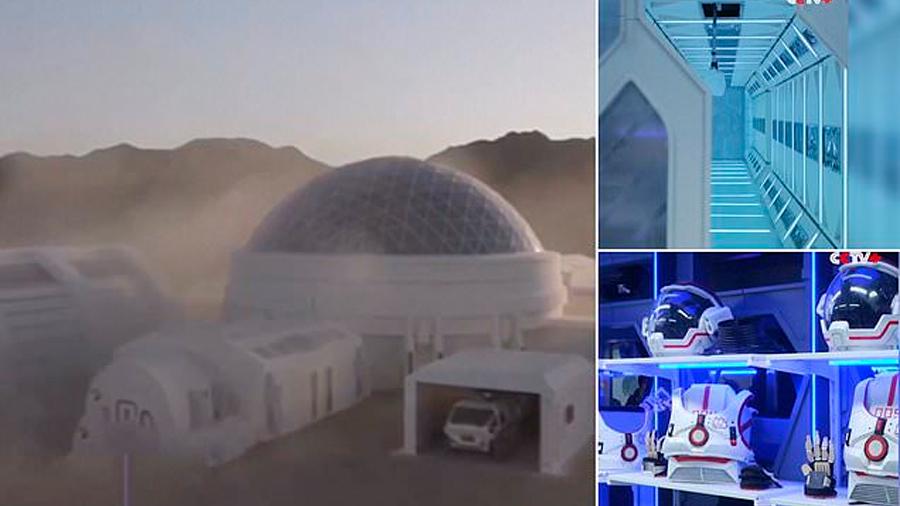 China creó y construyó en un desierto su primera simulación de base en Marte