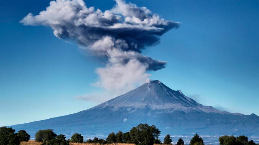 Volcán Popocatépetl varió su actividad tras sismos de 2017