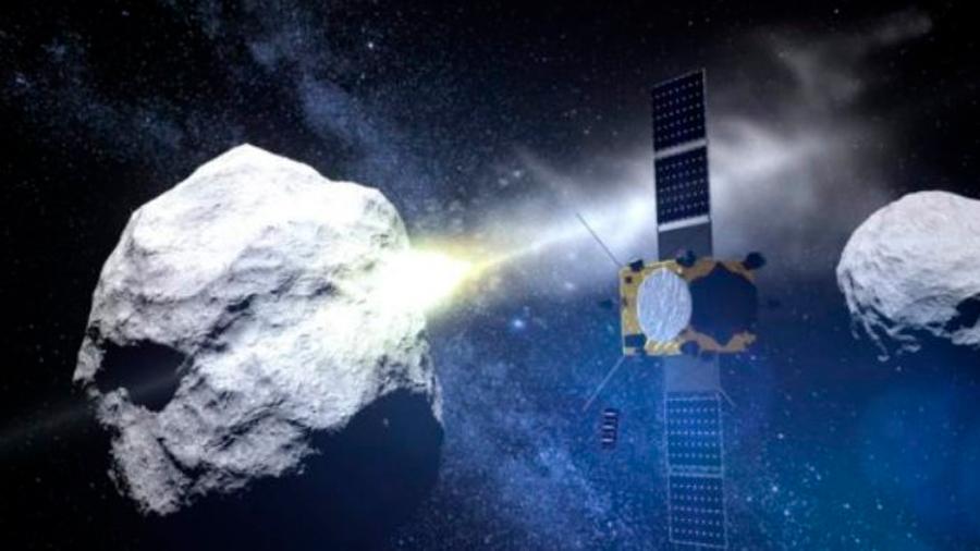 La sonda japonesa Hayabusa 2 dispara a un asteroide para hacer un cráter