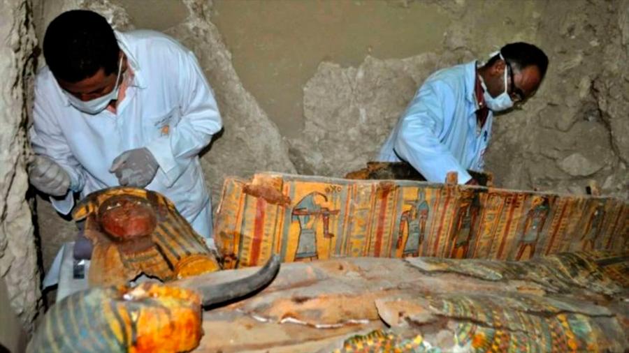 Una tumba faraónica de 18 puertas y 450 metros cuadrados, el nuevo hallazgo de Luxor