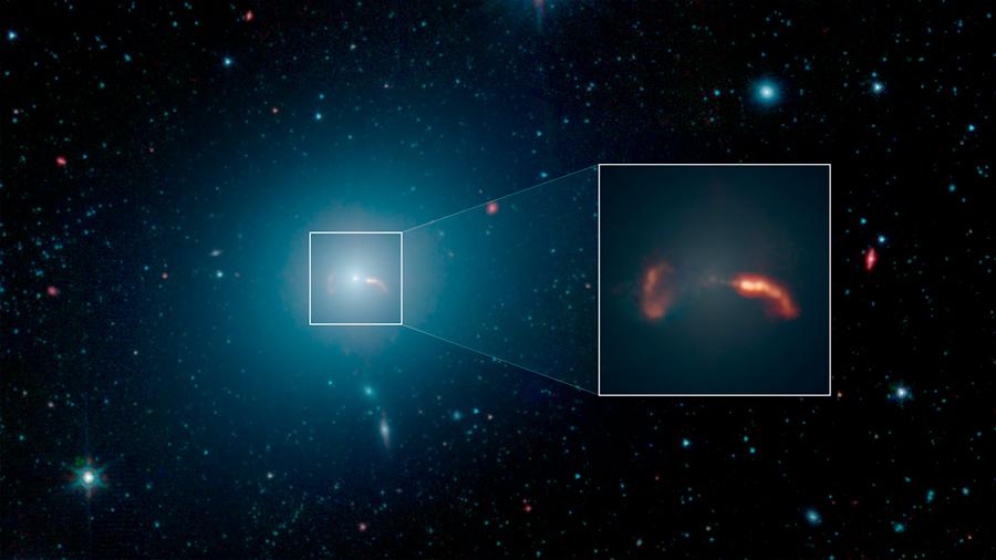 Obtienen imagen real de galaxia gigante alrededor del primer agujero negro