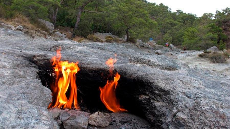Una montaña ha arrojado llamas constantemente durante 2,000 años