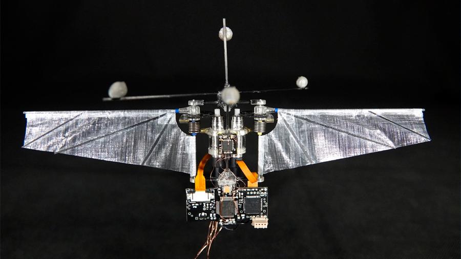 """Este robot volador aprendió imitar el """"vuelo imposible"""" de los colibríes"""