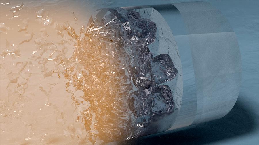 Descubren un tipo de hielo en el cual el agua que lo forma presenta propiedades extrañas