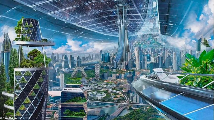 El plan de Jeff Bezos: colonizar el espacio en cápsulas que simulan la vida en la Tierra