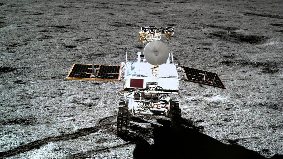 Chang'e-4, la sonda china en el lado oculto de la Luna encuentra minerales del subsuelo del satélite