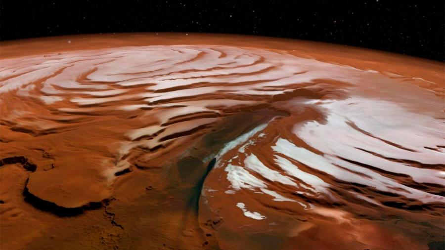 Hallan en Marte restos de capas de hielo antiguas; serían una de sus más grandes reservas de agua