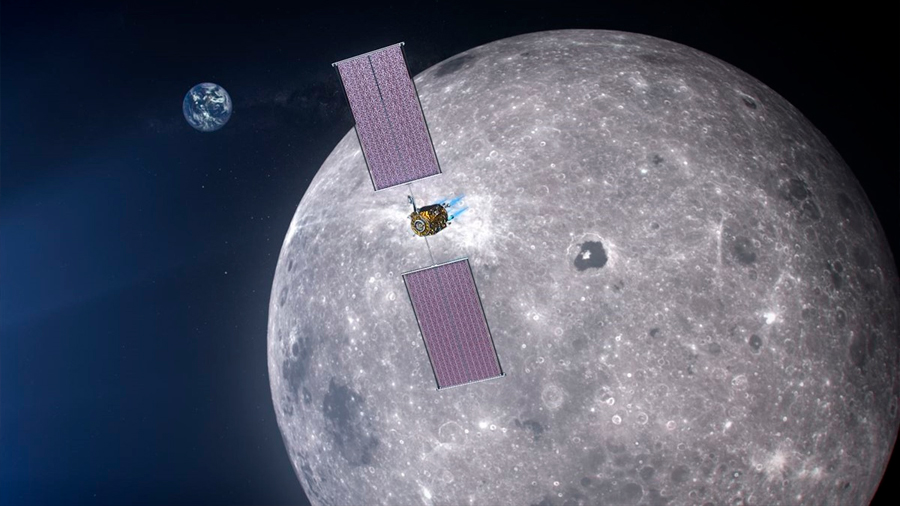 La NASA apuesta por la propulsión solar eléctrica en órbita lunar