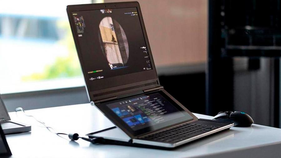Intel presenta laptop plegable de dos pantallas y un sensor con el que activas funciones solo con la mirada