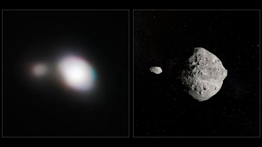 Un asteroide doble potencialmente peligroso pasó cerca de la Tierra a más de 70 mil km/h