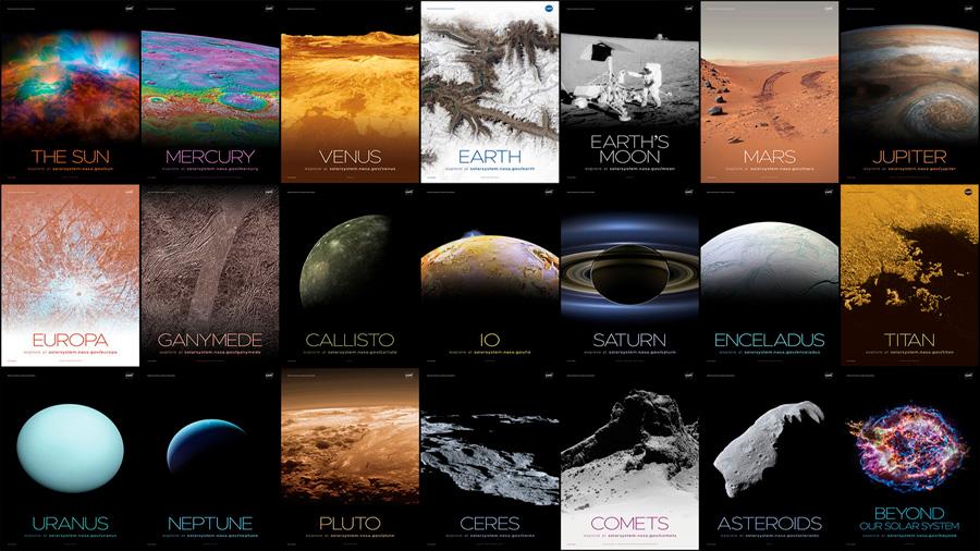 Estos 72 pósters descargables sobre el Sistema Solar creados por la NASA deberían decorar tu casa