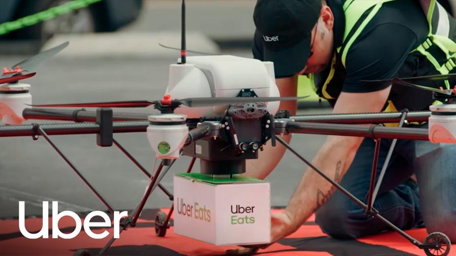 Uber Eats quiere entregar comida con la ayuda de drones