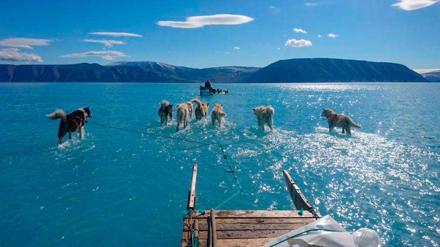El drama del deshielo de Groenlandia en una sola foto que se hizo viral