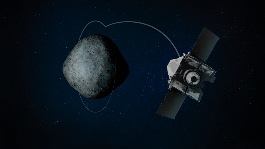 Nuevo récord espacial. OSIRIS-Rex orbita Bennu a 680 metros de altura