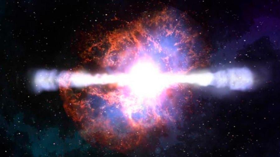 Captan restos de un estallido de rayos gamma, un hecho insólito