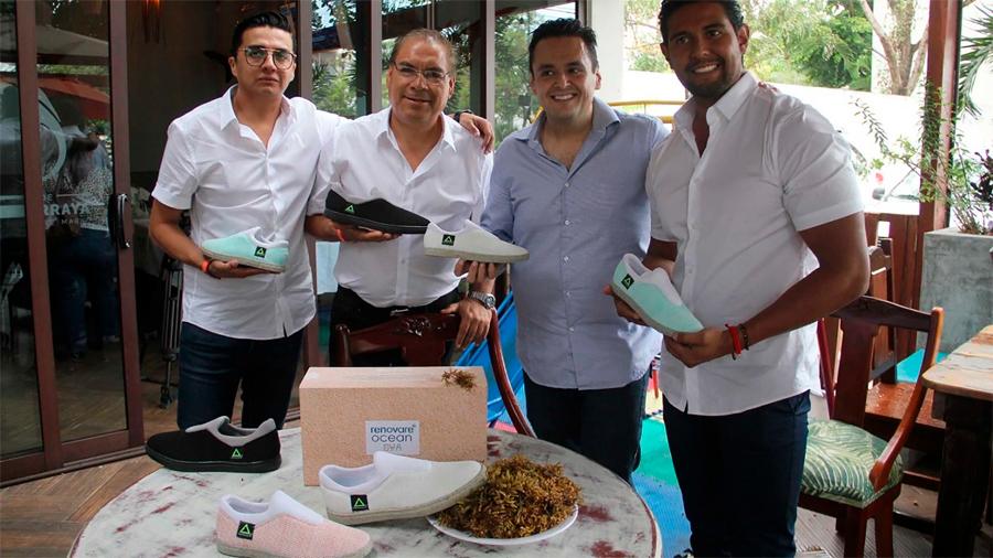 Patentan innovadores mexicanos zapato hecho de PET y sargazo