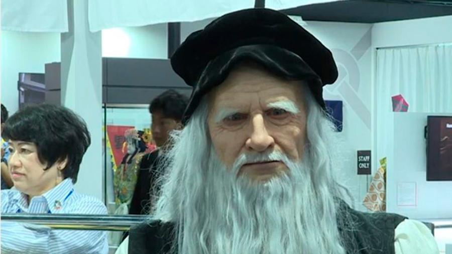 Producen robot de Leonardo Da Vinci y lo presentan en reunión de líderes del G20