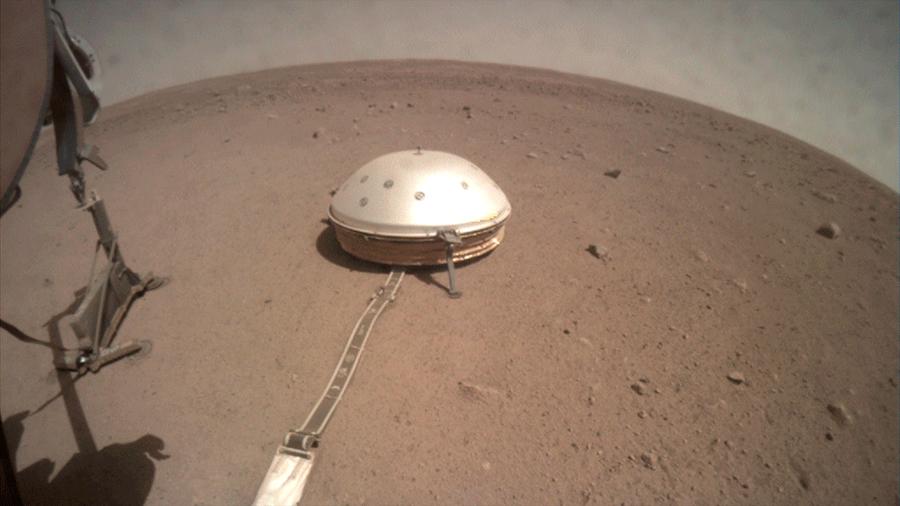 La NASA deja a la vista su atascado taladro de Marte