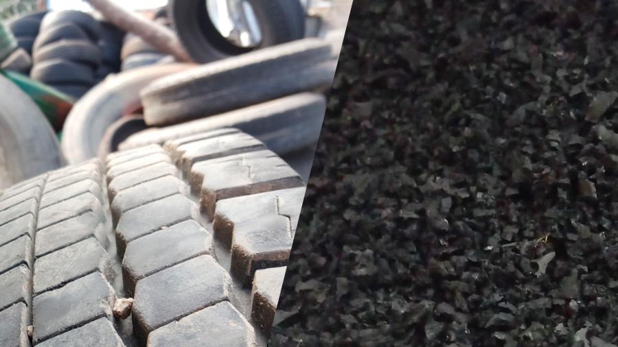 Hormigón reforzado con neumáticos, un innovador sistema de reciclaje