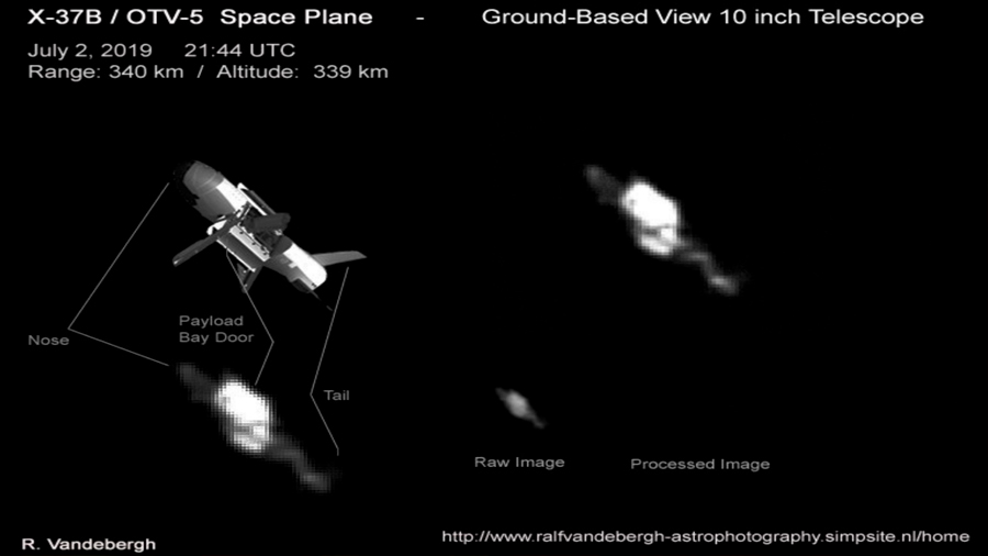 El avión espacial secreto estadounidense, cazado con un telescopio