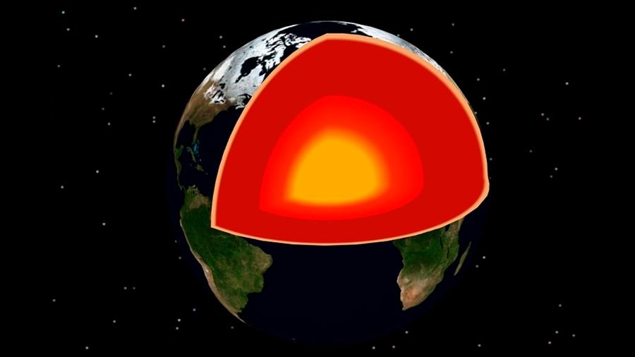 Evidencia de fugas en el núcleo terrestre