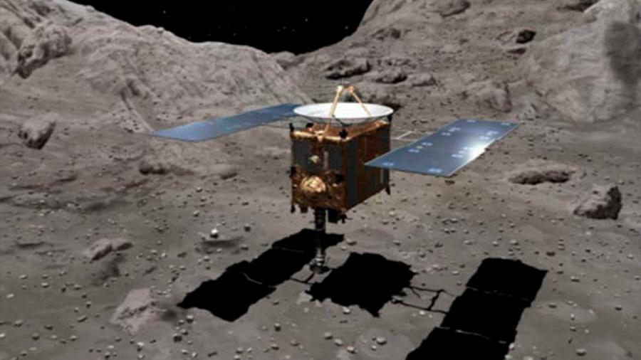 La nave Hayabusa 2 de Japón aterriza en un asteroide por segunda vez