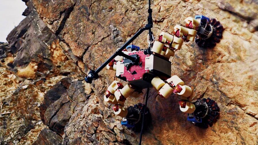 Este es LEMUR, un rover escalador para otros mundos