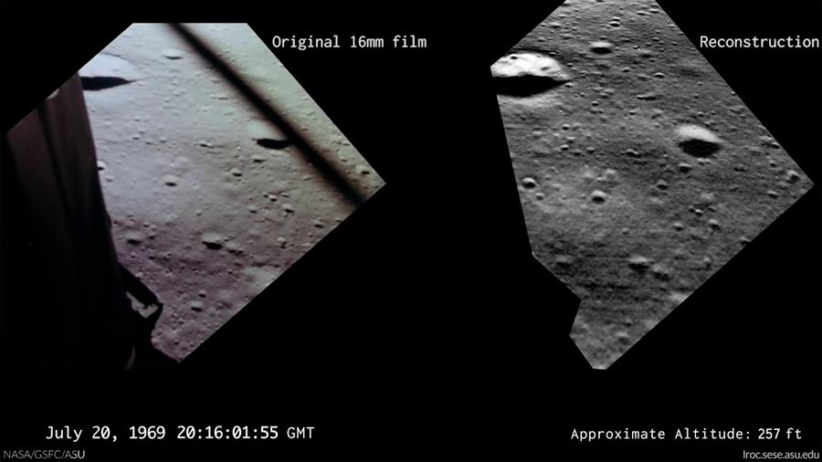 Video inédito muestra lo primero que vio Armstrong al llegar a la Luna