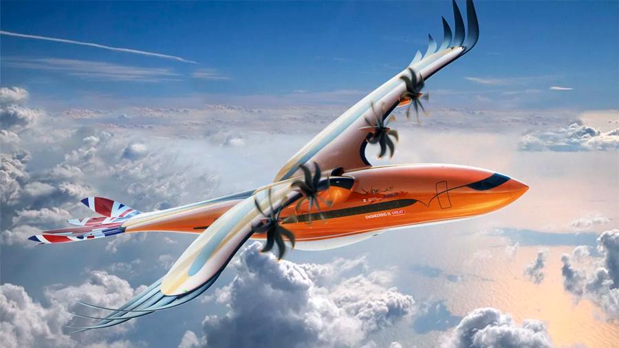 Airbus muestra un excéntrico concepto de avión comercial con plumas