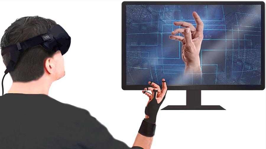 Crean un guante que permite manipular objetos virtuales
