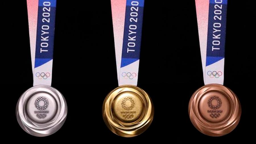 Así son las medallas de Tokio 2020 hechas de teléfonos reciclados