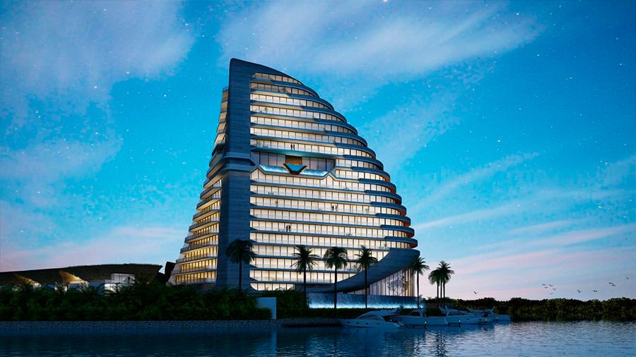 La 'torre tiburón' que se inspiró en las aletas del animal ayudará a preservar la especie en Cancún