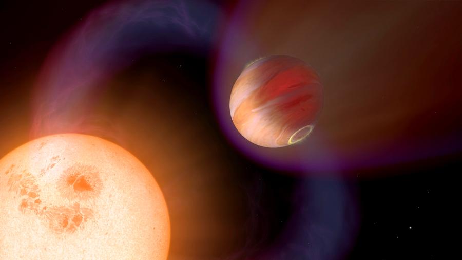Descubren el primer 'Júpiter caliente' que expulsa metales pesados en forma de gas