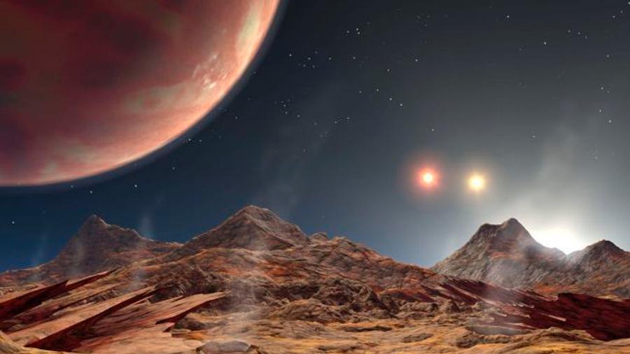 En el cielo de un planeta recién descubierto brillan tres soles