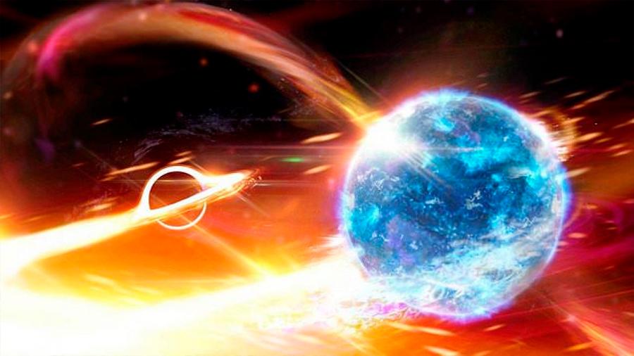 Lo nunca visto: científicos dicen que detectaron un agujero negro engullendo una estrella de neutrones