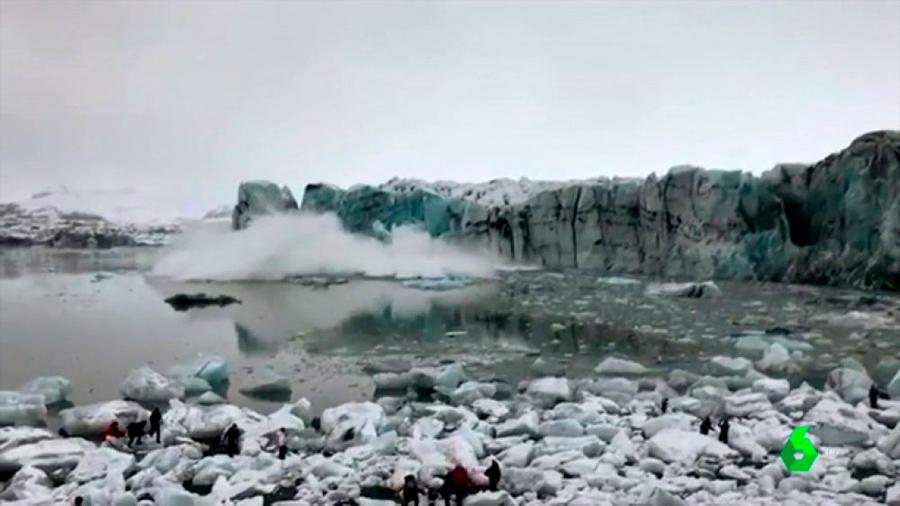 Científicos despiden al primer glaciar islandés que se derrite con un mensaje a la humanidad
