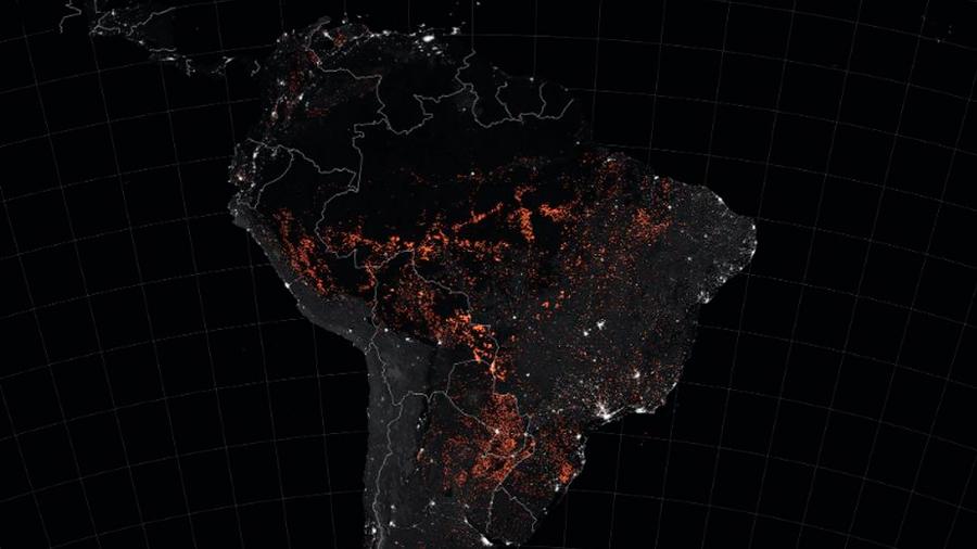 NASA capta nube de monóxido de carbono sobre el Amazonas