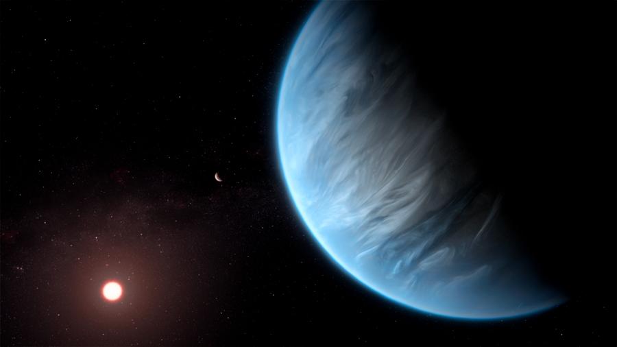 Encuentran vapor de agua en la atmósfera de un exoplaneta potencialmente habitable
